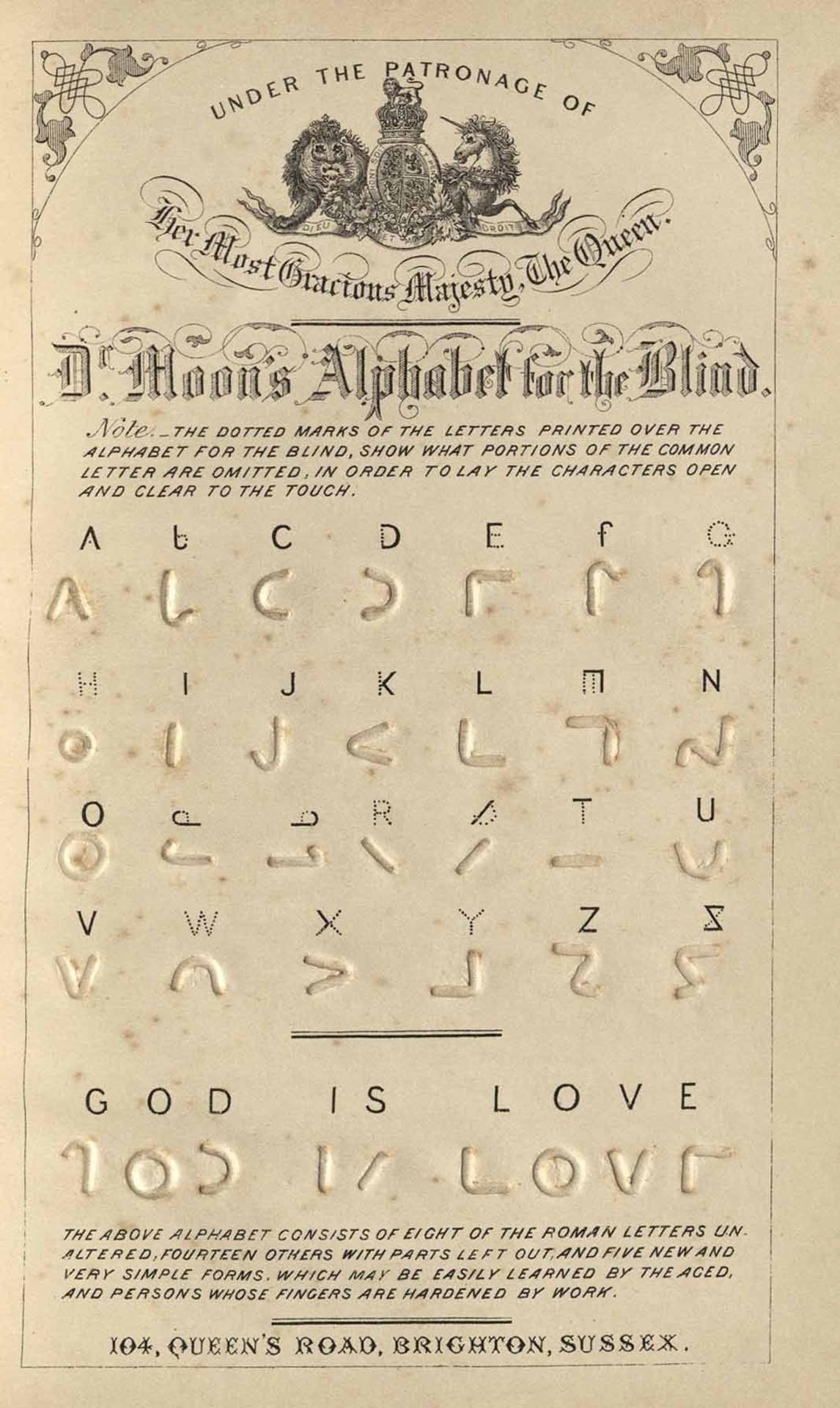 Braille Moon card