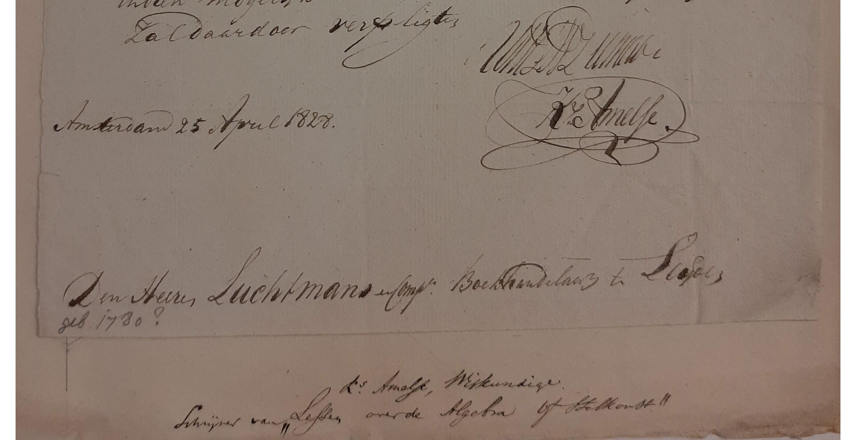Brief met biografica door Bodel Nijenhuis