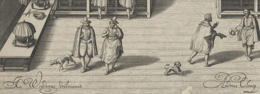Dogs in the library (1610). A team for utility and entertainment