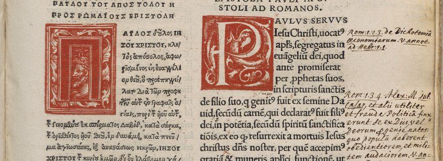 Erasmus' New Testament edition of 1516