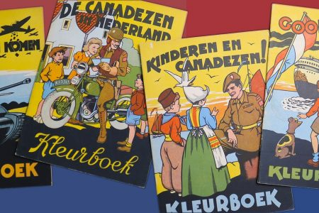 Dutch Children Cheering the Canadian Liberators: Four Dutch colouring books from 1945
