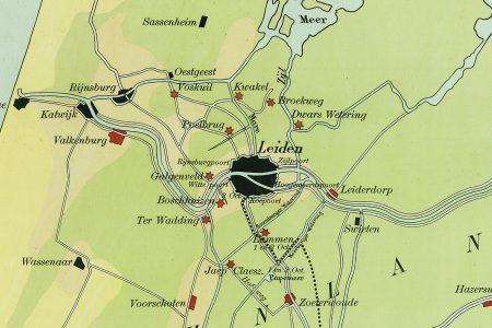 A school map of the Relief of Leiden in 1574