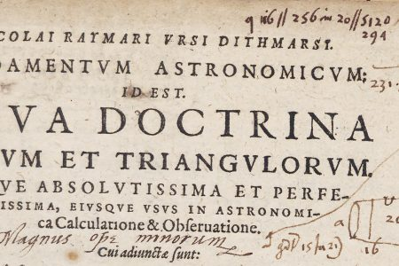 A New Discovery in an Old Astronomy Book