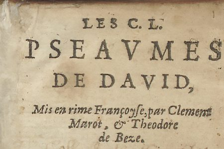 A French Psalm-Book Printed at Leiden in 1602