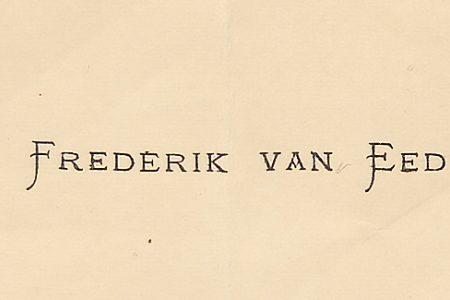 Van Eeden visiting Busken Huet
