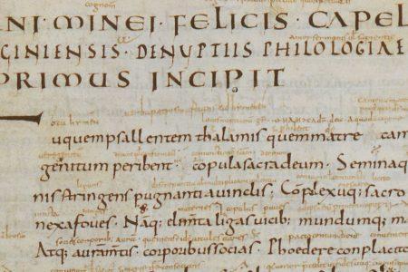 Martianus Capella's De nuptiis: a late antique bestseller in the ninth century