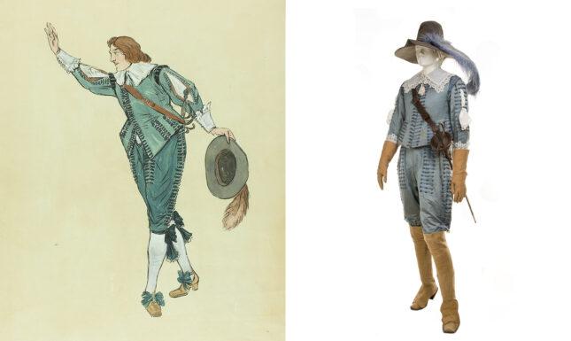 Afb 3 Costume design for the costume of Cohen Tervaert by Henricus Jansen at Erfgoed Leiden en Omstreken copy kostuum zelf