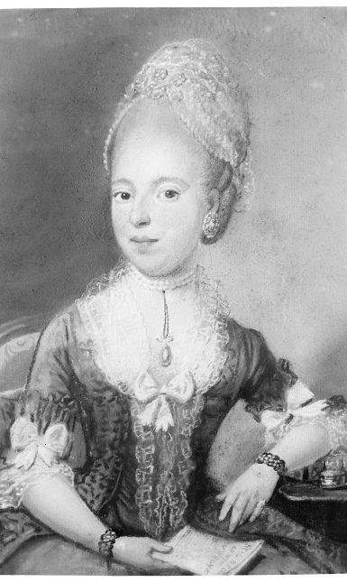 Evi Dijcks 2 klein Portrait of Anna van der Aar de Sterke by Pierre Frédéric de la Croix